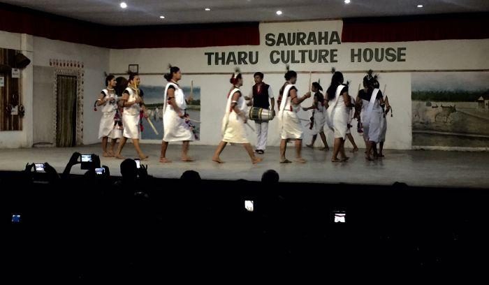 Tharu cultural show in Chitwan national park