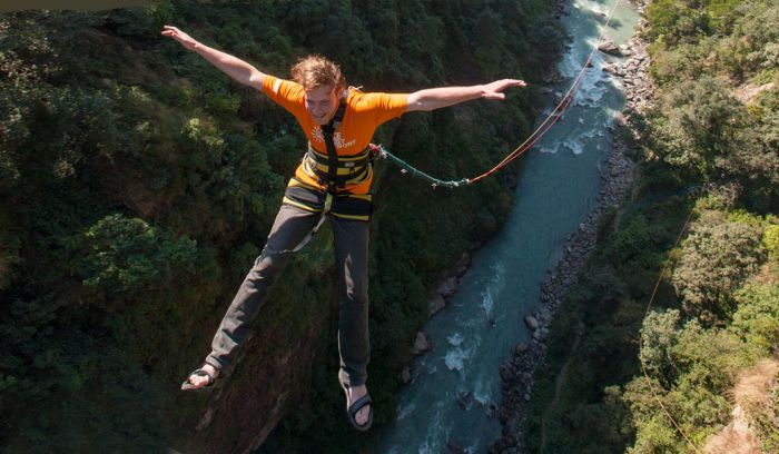 Bungy jumping- adventure of a lifetime