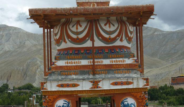 Buddhist stupa in Mustang