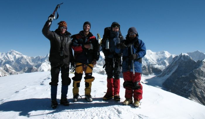at top of Mera peak- Mission completed