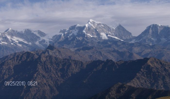 View from Pikey Hill( 4065m)- Holy Hill of Lower solukhumbu