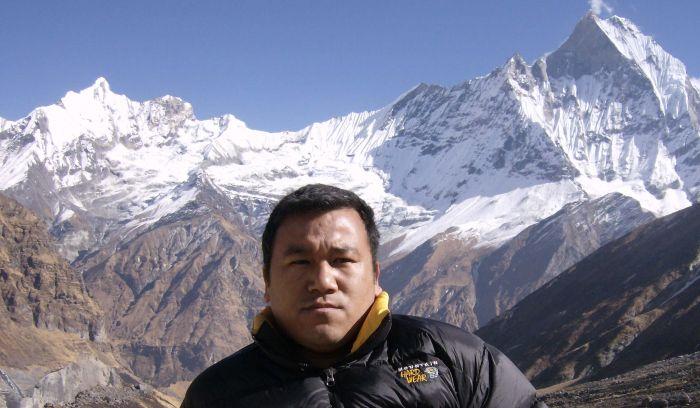 Pasang sherpa at Annapurna base camp( 4130m)
