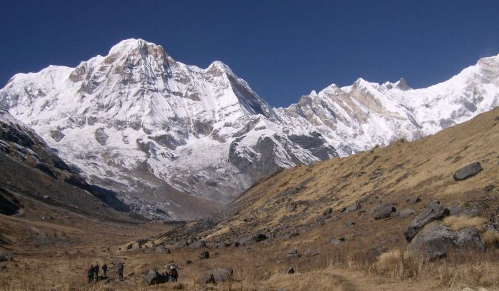 view from annapurna base camp trek