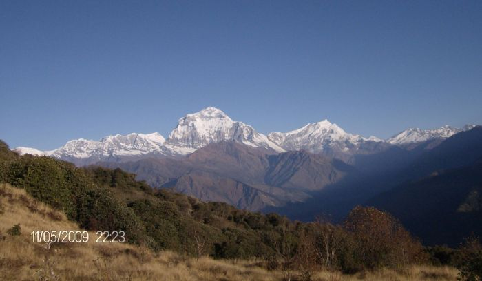 View from Ghorepani on the way to Annapurna base camp