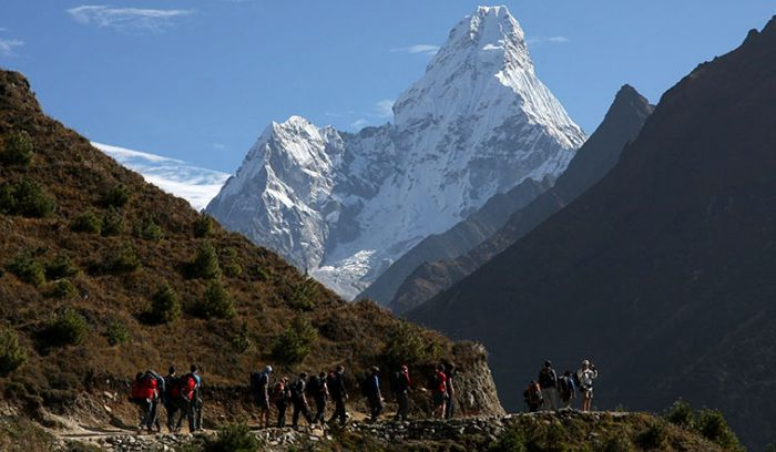 Luxury Trek to Everest base camp- top of Namche Bazzar