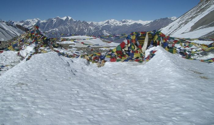 Top of Throng la pass( 5416 m)- the best high pass of Annapurna trek