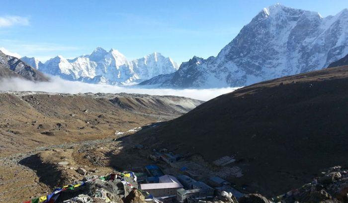 View from Gorakshep, before Everest base camp