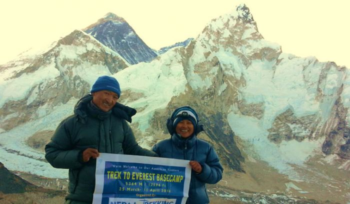 View from Everest base camp- Mount Everest & Lhotse