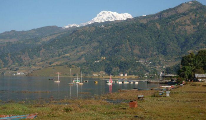 Fewa lake & Annapurna from pokhara