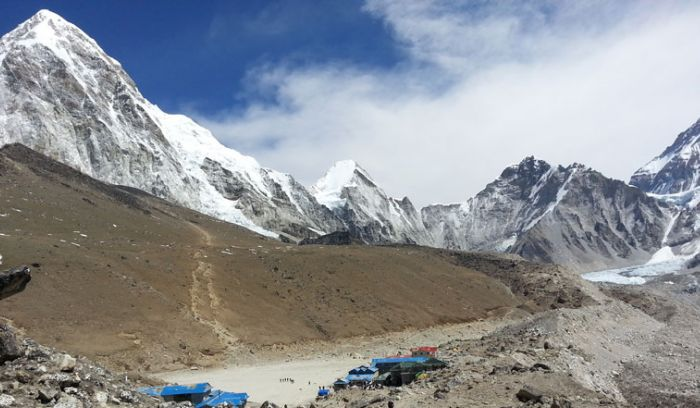 View from Gorakshep, close to Everest base camp