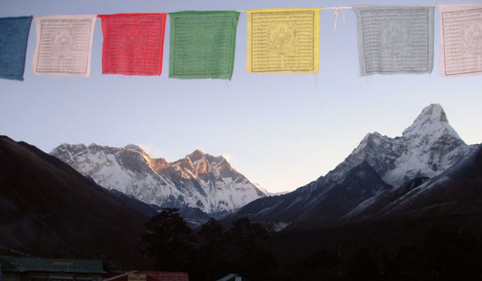 Amadablam,mount Everest view from tengboche