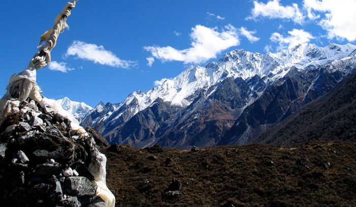 View from Kyanzin, Langtang