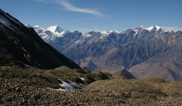 View from Throng la pass( 5416m)