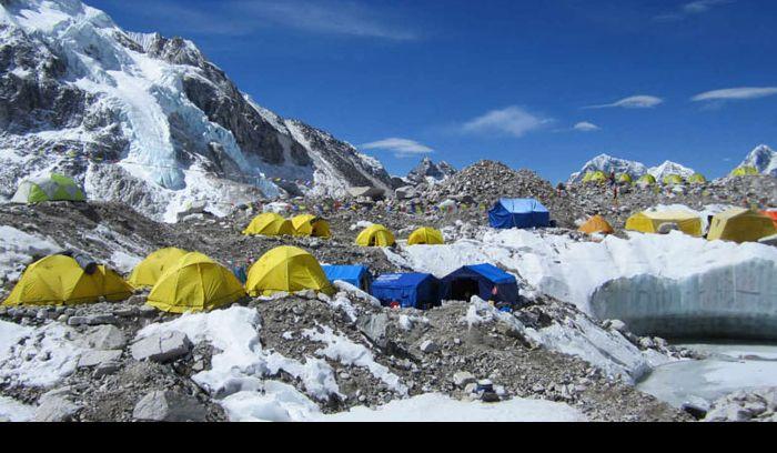 Everest base camp, 5346 m /17,535ft