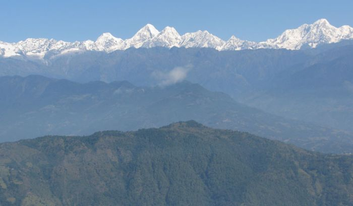 View from Nagarkot Hill,The closest mountain hill of Kathmandu