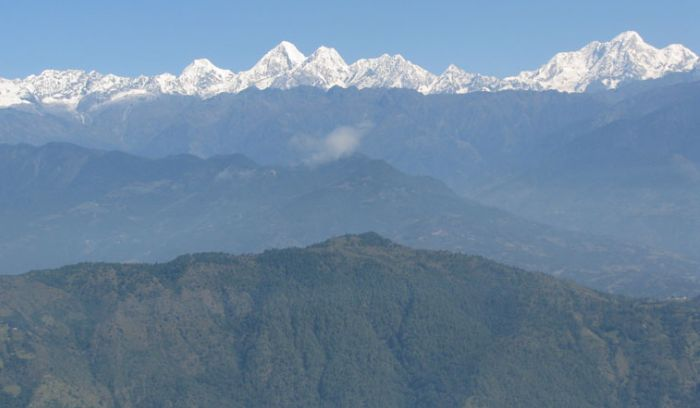Mountain views from Nagarkot Hill