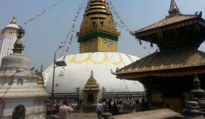 Monkey Temple in Kathmandu- Swoyambunath stupa