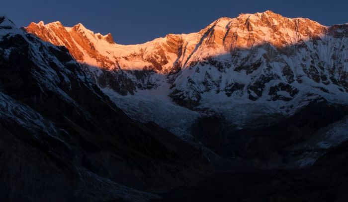 sunrise view from Annapurna base camp
