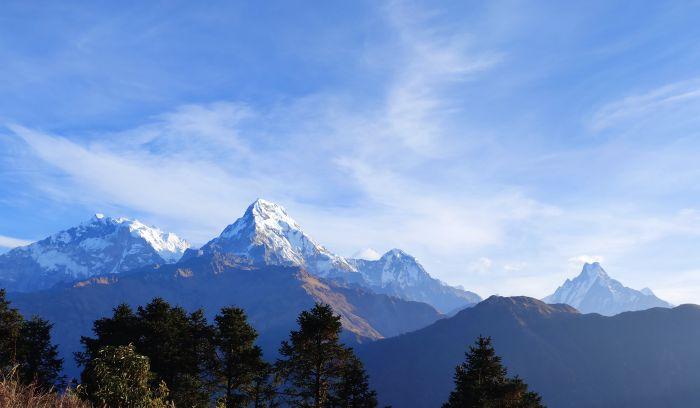 View from Ghorepani( 2870m)- Luxury Annapurna view trek