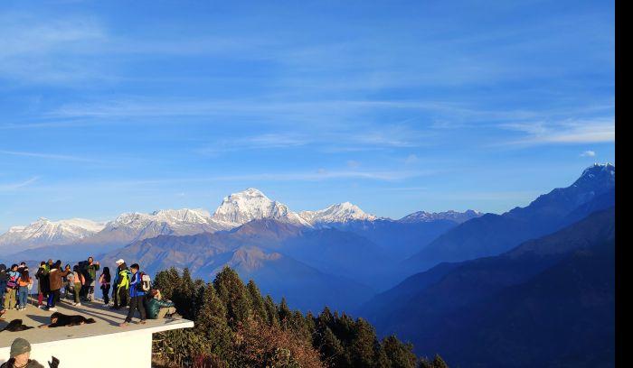 View from Ghorepani 2870m, Dhaulagiri and more