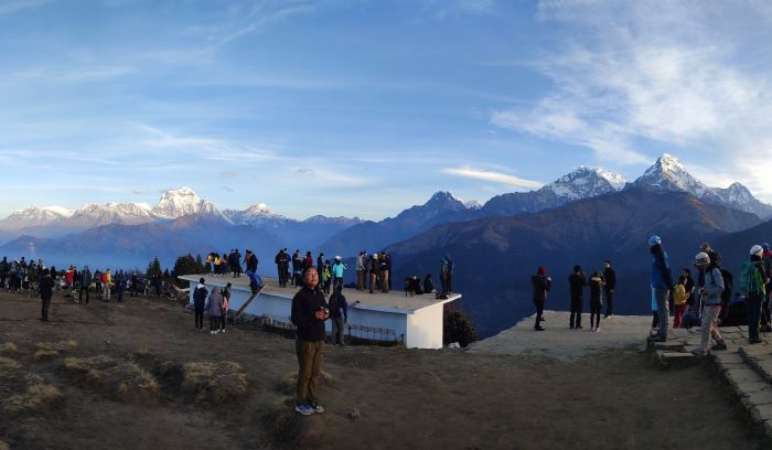 sunrise view from Poon hill 3210m,