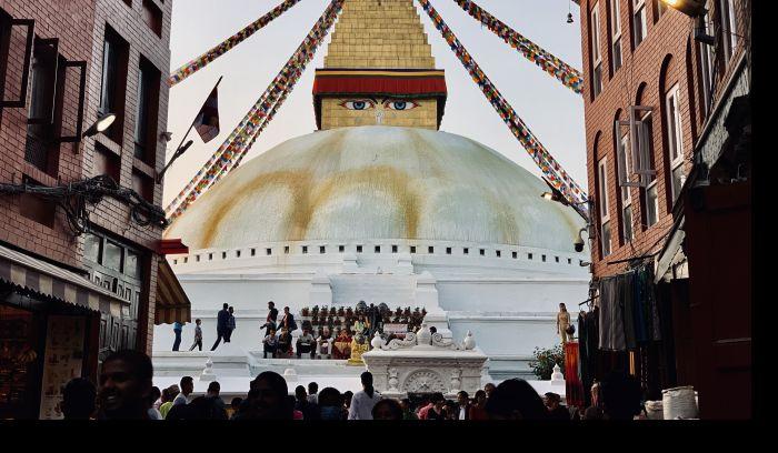 Boudhanath Buddhist Stupa in Kathmandu