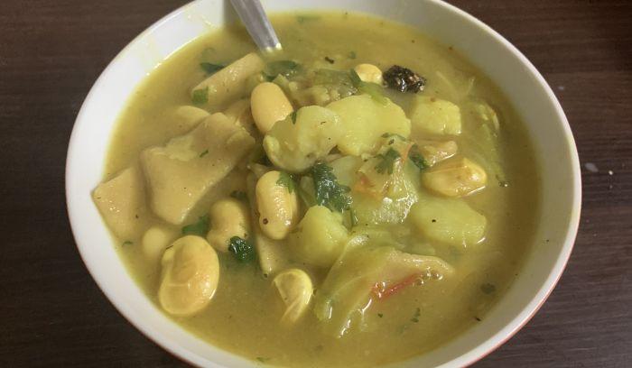 sherpa stew, known as Shyakpa in sherpa
