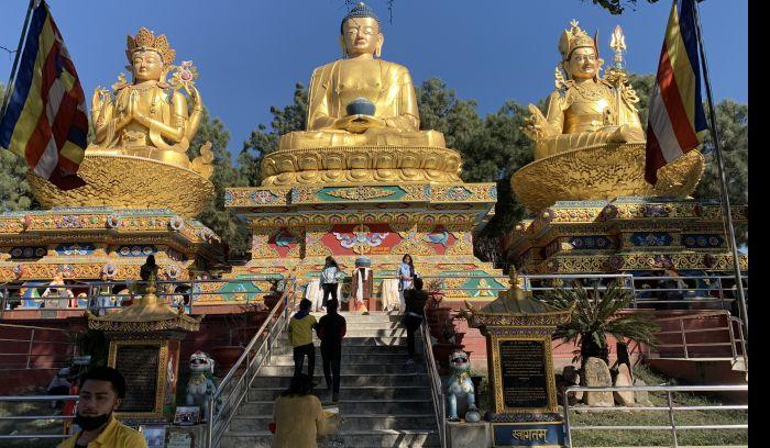 Amideva Buddha Park Swoyambunath Kathmandu