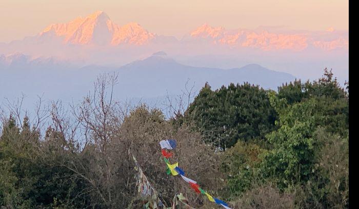 sun set view from Nagarkot View tower, Nagarkot