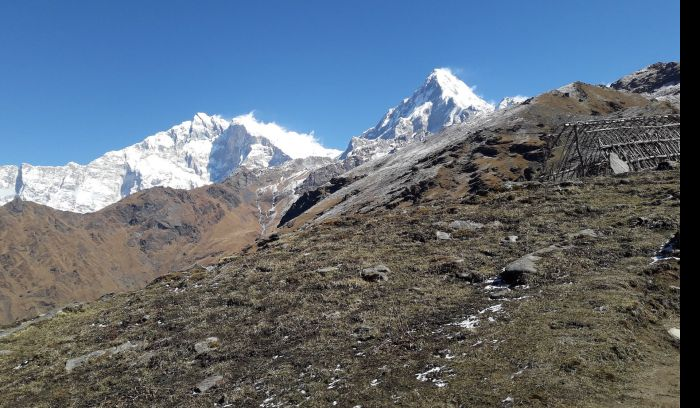 View from Khopra Danda trek