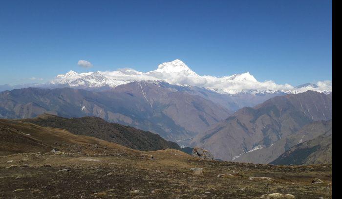 View from Khopra Ridge Trek