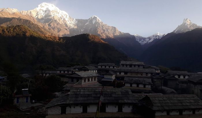 Ghandruk Village & Annapurna, Himchuli, Fishtail mountains