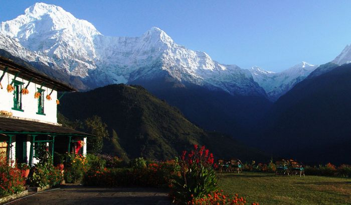 View from Ghandruk, Himalaya Lodge