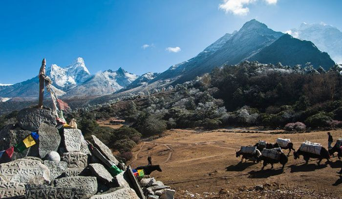 View from Syangboche, Everest