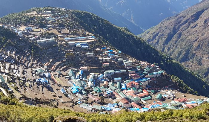 Namche Bazzar, altitude of 3440m, Land of Sherpas