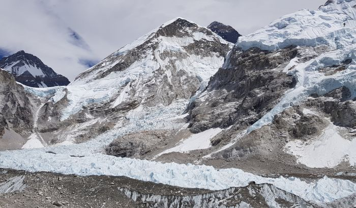 View from Luxury EBC, Glacier, and Mount Everest