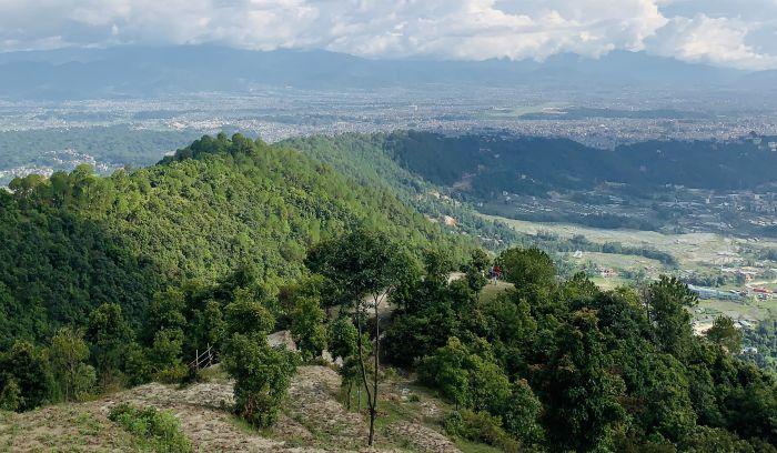 Kathmandu valley View from Resort area, Tare Bhir, Shivapuri National park