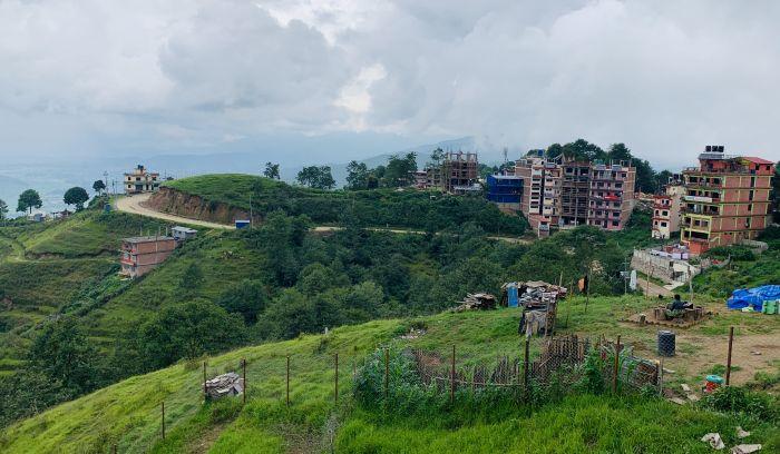 Nagarkot hill at 2175m