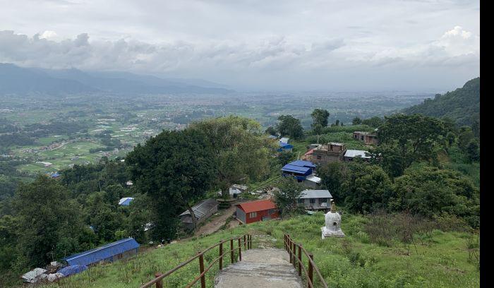 view of Kathmandu city from nagarkot hiking