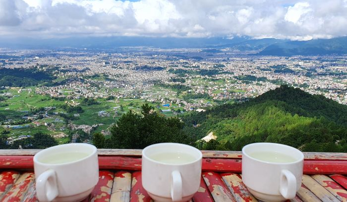 Kathmandu valley view from this hiking