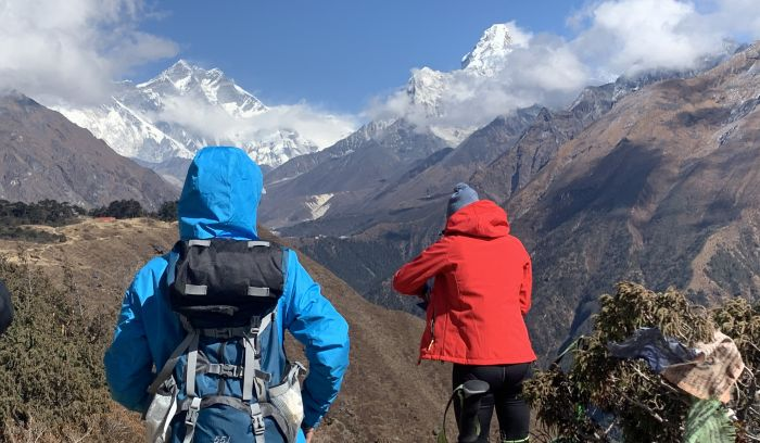 Ama dablam and Everest view from Syangboche