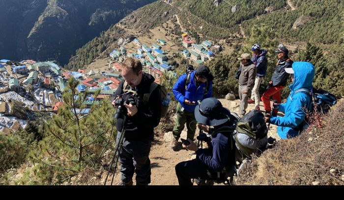 Namche Bazzar, altitude of 3440m, Land of Sherpas