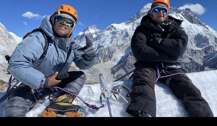 Mount Everest view from Lobuche peak