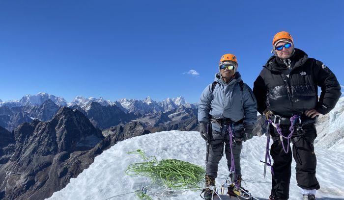 at Top of Lobuche peak 6119m