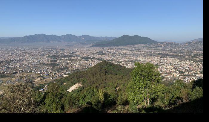view of Kathmandu city during Biking tour