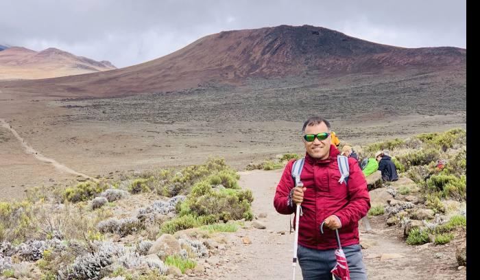 pasang sherpa-on the way to mount Kilimanjaro