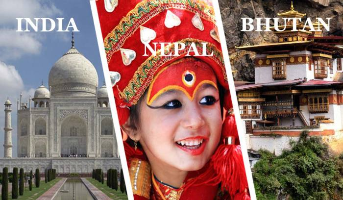 Multi Country Tour Package | Nepal India Bhutan Tour