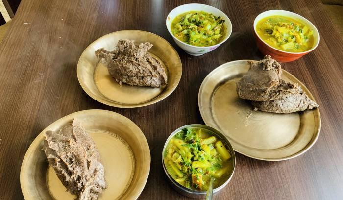 Nepali traditional food- Dhido