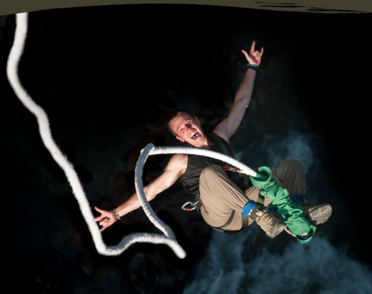 Bungy jump and canyoning day tour
