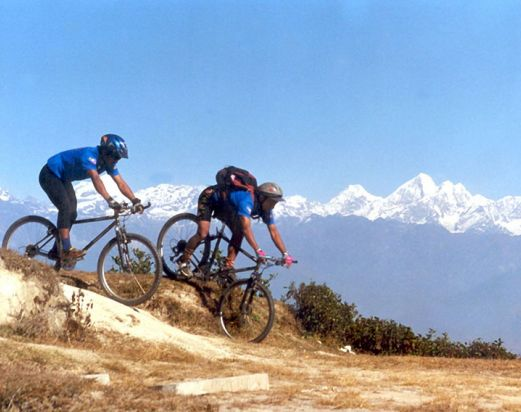 Mountain biking tour around Kathmandu